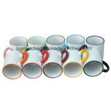 tazas de café de cerámica de la sublimación 11oz con el color Rim&Handle