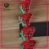 Testo fisso decorativo del merletto del reticolo di Strassberry del poliestere di modo