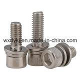 中国ANSI B18.3.1mからの六角形のソケットのキャップボルト、スプリングウオッシャーおよび明白な洗濯機アセンブリ工場
