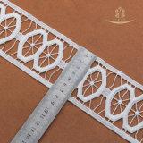 Lacet africain de voile de /Heavy de coton de tissu suisse africain de lacet par le grand lacet suisse de Wedding African avec la configuration de cercle
