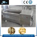 Acier inoxydable 304 Matériel Lavage de patates douces en continu Peeler Machine