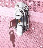 Berufskrokodil-geformte Schönheits-kosmetischer Aluminiumlegierungportable-Kasten