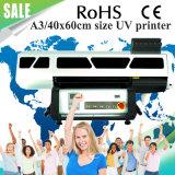 A3 / 40x60cm impresora 4060 Pequeño UV de cama plana digital de cristal