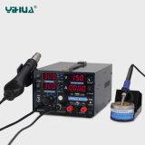 LED 빛을%s 가진 Yihua 853D USB 1A 이동 전화 수선 납땜 역