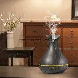 つぼの形400mlの超音波涼しい霧多彩なライト調節可能な香りの拡散器