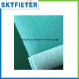 Белая и зеленая циновка стеклянного волокна средств фильтра стопа краски стеклоткани