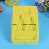 Yellow Flocking Cosmetics Blister Packaging Bandeja