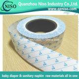 Papier adhésif adhésif pour serviette hygiénique