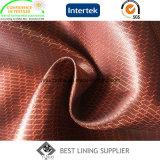 Satin-Schaftmaschine-Futter-Winter-Mantel-Zwischenlage-Futter-Gewebe des Polyester-100