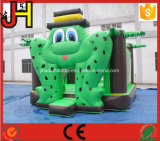 Da râ inflável do Bouncer da râ verde Bouncer de salto inflável da base