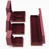 Caja de cuero de cuero de la PU del Leatherette de la alta calidad del OEM (J51-E1)