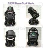 Luzes principais moventes da mini lavagem do ponto do feixe de 280W Pointe para o estágio (BR-280SP)