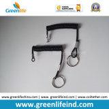 Anillo retractable del dispositivo W/Loop End&Key de la correa negra estándar de la bobina