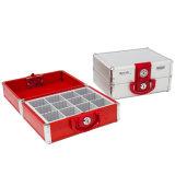 12 Comparmentsの記憶のための大きいアルミニウム財政のシールのオルガナイザーボックス