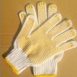 Перчатки хлопка при резиновый димплы используемые в промышленном