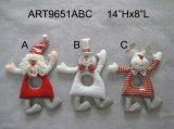"""6 """" Hx5 """" L natale del regalo della decorazione della casa di inverno su legno Sled-3asst"""