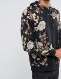Hoodie con la impresión floral japonesa
