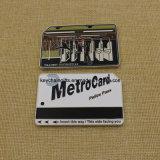 Kundenspezifische Metallsilber-Metro-Karten-Münze Nypd Herausforderungs-Münze