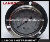 Calibrador de presión de Fillable del petróleo 066 con la fábrica del OEM del borde