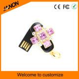 Mecanismo impulsor del flash del USB de la joyería del palillo del USB del diamante