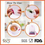 Стрейнер листьев Infuser чая силикона качества еды Ws-If062 установленный для чашки кружки, бака чая