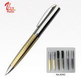 El bolígrafo cristalino del metal con modifica la impresión de la insignia para requisitos particulares