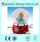 Globo de encargo de la nieve de la resina de la decoración de la Navidad