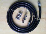 ISO9001 Tubulação de borracha preta Mangueira trançada Óleo de combustível Fornecimento de entrega Tubo de mangueira da fazenda