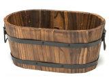 Piantatrice di legno Deco esterno del POT del barilotto del whisky del cedro