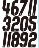 Traspasos térmicos estupendos del plastisol del precio bajo de China, escritura de la etiqueta de los números del traspaso térmico del fútbol para Jersey, camiseta
