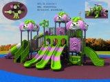 新しいデザイン屋外の運動場の普及した子供のプレイハウスのスライド