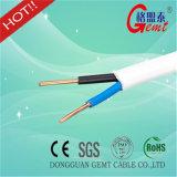 Fio liso de cobre isolado PVC real do cabo elétrico de cabo liso do CCA do cabo liso da fábrica