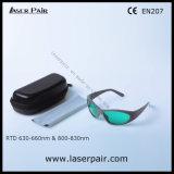 프레임 55를 가진 635nm 빨간 Lasers 그리고 808nm 다이오드를 위한 630의 - 660nm & 800 - 830nm Laser 보호 고글 레이저 안전 유리의 유형을