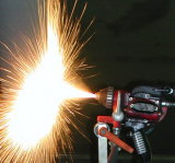 Sobsonic niedrige Geschwindigkeit flammspritzen Draht-Sprühsystems-Edelstahl-kupfernes Aluminiumzink und Kohlenstoffstahl