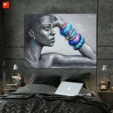 [مودر] إفريقيّة أنثى صورة منزل زخرفة فنّ صورة زيتيّة