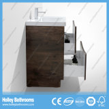 Vanité fixée au sol de salle de bains de type moderne avec la lampe de DEL (BF317D)