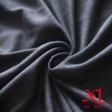 Tecido de camurça de poliéster de pêssego de malha escura para vestuário / botas