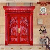 正面玄関の木のドアの職人エントリ木製のドア(GSP1-007)