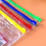 Sac fait sur commande de crayon lecteur de PVC, sac de papeterie de PVC, sac de crayon de PVC