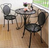 옥외 정원 가구 철 테이블 및 의자 세트