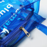Blaue Belüftung-große transparente Frauen-Handtasche (A088)