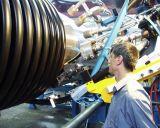 Krahの管の生産ラインプラスチック波形の管の放出ライン