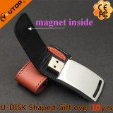 새로운 선물 걸쇠 접히는 가죽 금속 USB 섬광 드라이브 (YT-5116-01)