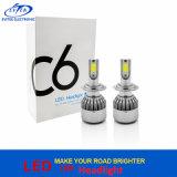 2017 la más nueva luz principal de Turbo 36W 3800lm H7 C6 LED para el faro del coche