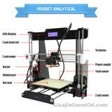 2017 самый новый Anet A6 3D-Printer DIY большой набор принтера Reprap Prusa I3 DIY 3D точности размера печатание с 10m карточкой нити 16GB