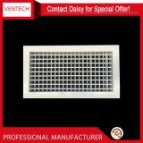 Ventilação Suprimento de parede de alumínio Grade de deflexão dupla Grades de ar