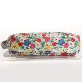 Britânico impermeável ombro Floral PVC Shell Canvas Bag Vintage Crossbody