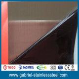 el final plateado de metal aplicado con brocha espesor del acero inoxidable de 1.0m m califica 316L