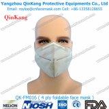 Mascarilla plegable plana del suministro médico de la máscara de polvo de 4ply Ffp2