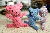 Tipo animal juguete de la cuerda del algodón del animal doméstico